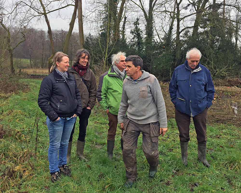 v.l.n.r. Mariska Slot, Wouter van Eck, Kees van Veluw, Taco Blom, Gerard Oomen